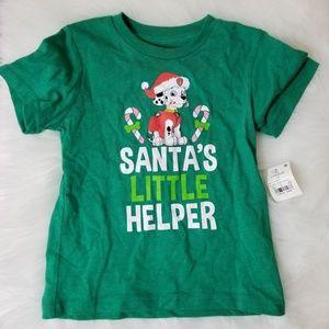 Short Sleeve Paw Patrol Christmas Shirt Size 3T